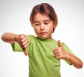 Little Baby Girl Shows Sign Yes No Gesture Royalty Free Stock Photos - 38339708
