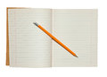 Notebook And Pencil Stock Image - 38346101