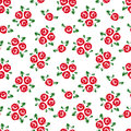 Seamless Pattern With Red Roses. Royalty Free Stock Images - 38346819