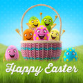 Happy Easter Amazing 3D Postcard, Banner, Background Stock Image - 38358621