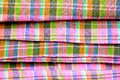 Colorful Macro Pattern Background On Thai Sarong Royalty Free Stock Images - 38362589