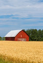 Red Barn In Field Stock Photos - 38380353