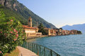 Picturesque Lakeside Promenade With Oleander, Garda Lake Stock Photography - 38382742