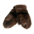 Fur Mittens Isolated Royalty Free Stock Photography - 38386817