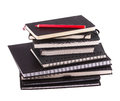 A Stack Of Business Notebooks And Red Pencil Stock Photos - 38388683