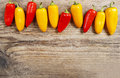 Red And Yellow Hot Chili Peppers Royalty Free Stock Photography - 38389087