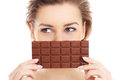 Woman And Chocolate Stock Images - 38397534
