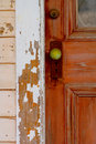 The Green Door Handle Royalty Free Stock Photography - 3842547