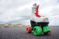 Old Vintage White Skate Boot Royalty Free Stock Photo - 38404605