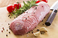 Raw Veal Fillet With Herbs And Spices Stock Image - 38408821