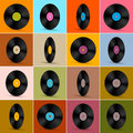 Vector Vinyl Record Disc Background Royalty Free Stock Photography - 38410847