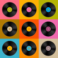 Retro, Vintage Vector Vinyl Record Disc Royalty Free Stock Photos - 38411458