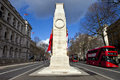 The Cenotaph Down Whitehall In London Royalty Free Stock Image - 38413356