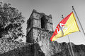 Sicilian Flag On Old Architecture Stock Image - 38424651