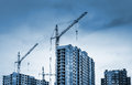 Tower Cranes And Buildings Under Construction Royalty Free Stock Photos - 38425258