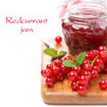 Berry Jam And Fresh Red Currants, Isolated Royalty Free Stock Images - 38434909