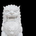 Chinese Imperial Lion Statue Isolated On Black Background Stock Images - 38436664