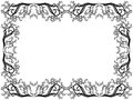 Black And White Frame With Floral Elements Royalty Free Stock Photography - 38441857