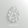 Abstract Background With Floral Easter Egg Stock Photos - 38445543