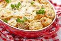 Baked Crepes Roll With Chicken And Cheese Stock Image - 38447911