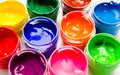 Gouache Paint Isolated On A White Stock Images - 38465854