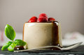Strawberry Pannacotta With Spoon On Dish Stock Photography - 38485882