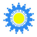 Blue Little Men As A Symbol Of Solidarity Stock Image - 38494981