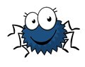 Cute Little Spiky Cartoon Spider Stock Image - 38498101