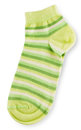 Fashionable Pair Of Green Striped Socks Royalty Free Stock Images - 38501849