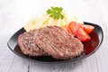 Beefsteak And Puree Stock Images - 38506954