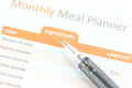 Mechanical Pencil Point To Meal Planner Graph. Stock Photography - 38513782