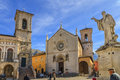 St. Benedict Square, Norcia, Italy Stock Photography - 38516992