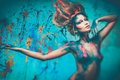Woman Muse With Body Art Stock Photos - 38518213