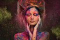 Woman Muse With Body Art Royalty Free Stock Photo - 38518295