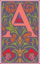 Flowers Decorative Letter A In Color Stock Images - 38519934