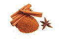 Cinnamon Sticks With Star Anise Isolated Royalty Free Stock Photos - 38531638