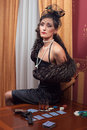 The Woman In Strict Clothes In A Retro Style. Royalty Free Stock Photos - 38533858