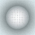 Abstract Sphere On Binary Background Stock Photos - 38534913