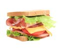 Sandwich With Bacon And Vegetables. Stock Image - 38557891