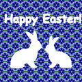 White Silhouette Of Two Easter Bunny Rabbits. Desi Stock Photo - 38559040