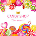 Bright Background With Candies Stock Images - 38561064