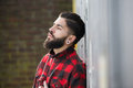 Man With Beard Standing Outdoors Alone Royalty Free Stock Photo - 38564385