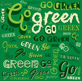 Go Green Eco Word Background Royalty Free Stock Image - 38565316