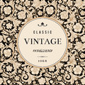 Vintage Vector Card In Classical Baroque Style. Stock Image - 38575541