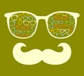 Retro Sunglasses With Reflection For Hipster. Stock Photography - 38584452
