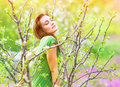Seductive Woman In The Garden Stock Images - 38587304