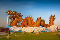 Chinese Golden Dragon Statue Stock Photography - 38587662