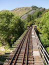 Railway Track Up Taieri Gorge New Zealand Royalty Free Stock Photography - 38589707