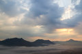 Mist Over The Mountains Royalty Free Stock Photo - 38595805