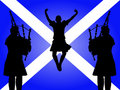 Pipers And Highland Dancer Royalty Free Stock Photography - 3864597